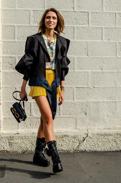 Landiana Yolo, Prada, streetstyle